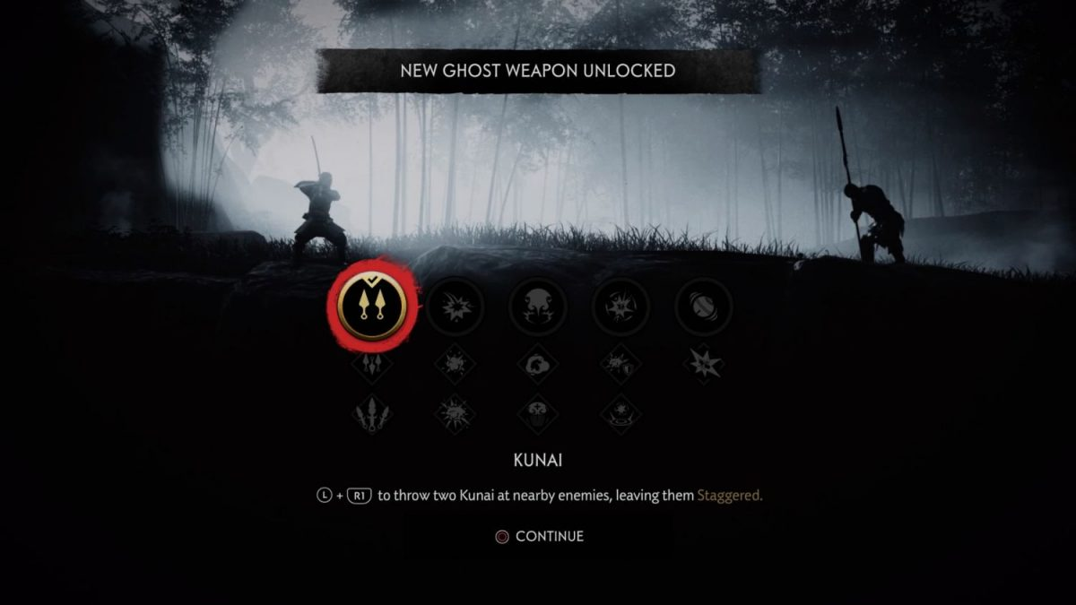 Ghost of Tsushima - Ghost weapons