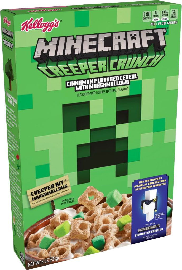 You Can Now Eat Minecraft Creepers In New Kellogg S Cereal Geek Culture