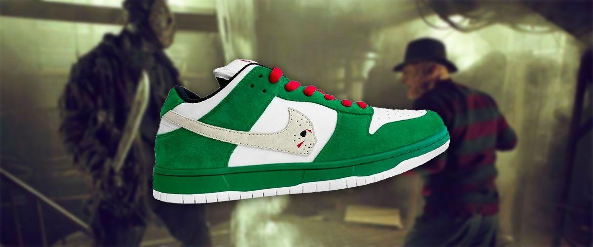 Jason Voorhees Nike Dunk Low Sneakers