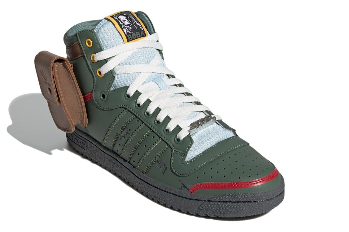 Activar desbloquear En todo el mundo  Adidas Honours Boba Fett In New Star Wars Top Ten Hi Sneakers | Geek Culture