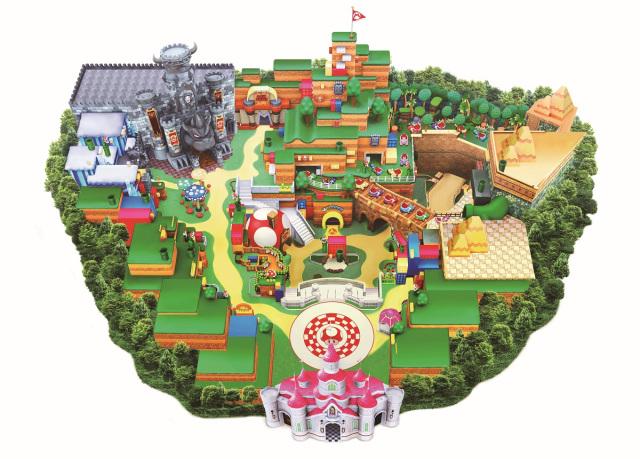 Super Nintendo World mapa