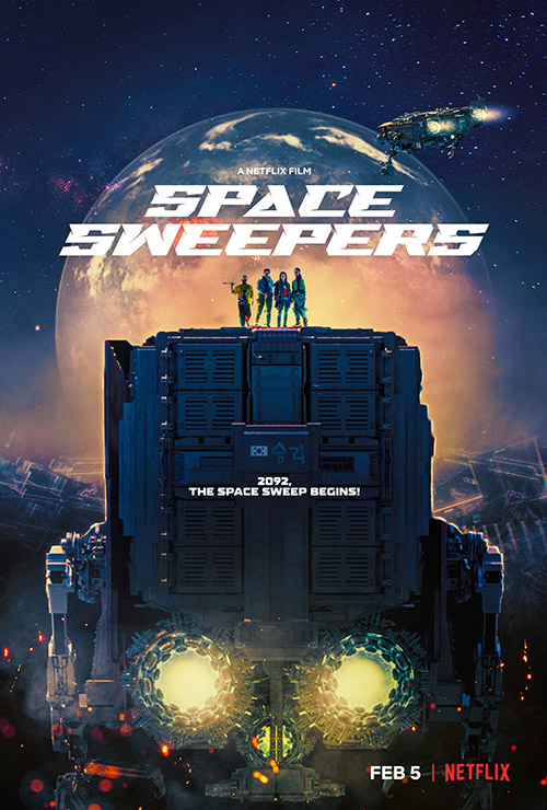 spazzatrici spaziali - Space Sweepers film netflix poster