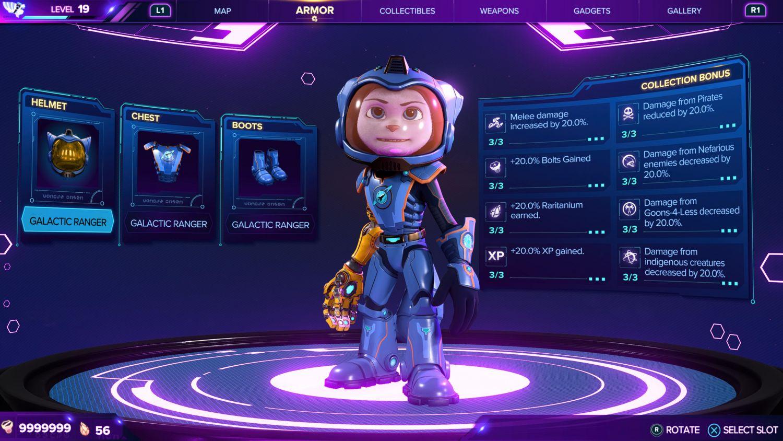 Ratchet & Clank: Rift Apart - All Armour Guide - Galactic Ranger