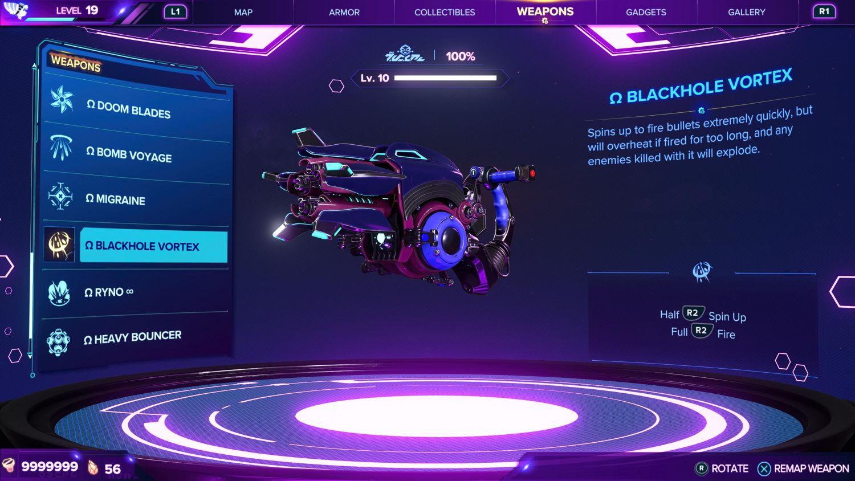 Ratchet & Clank: Rift Apart - All Weapons Guide: Blackhole Storm