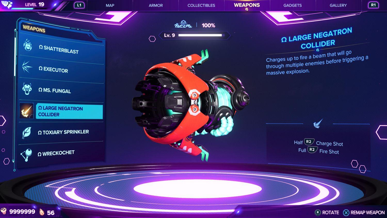 Ratchet & Clank: Rift Apart - All Weapons Guide: Neutron Collider