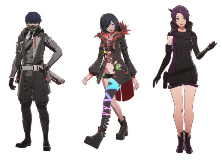 Scarlet Nexus - Seto Narakumi, Kodama Melone, and Haruka Frazer