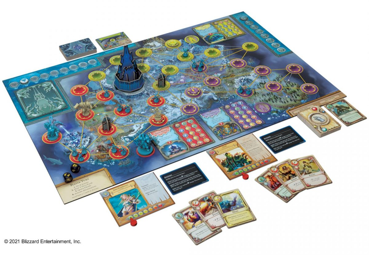 The game board in World of Warcraft: Wrath of the Lich King - A Pandemic System Board Game