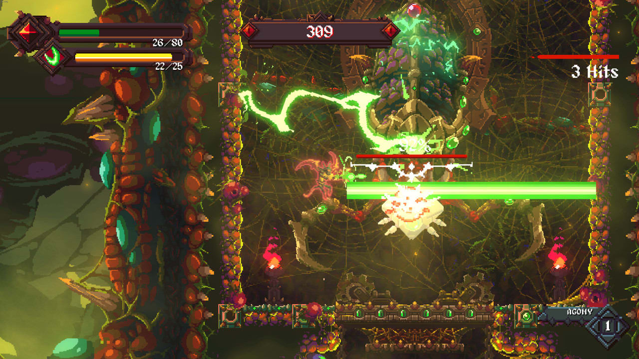 A boss fight in Rising Hell