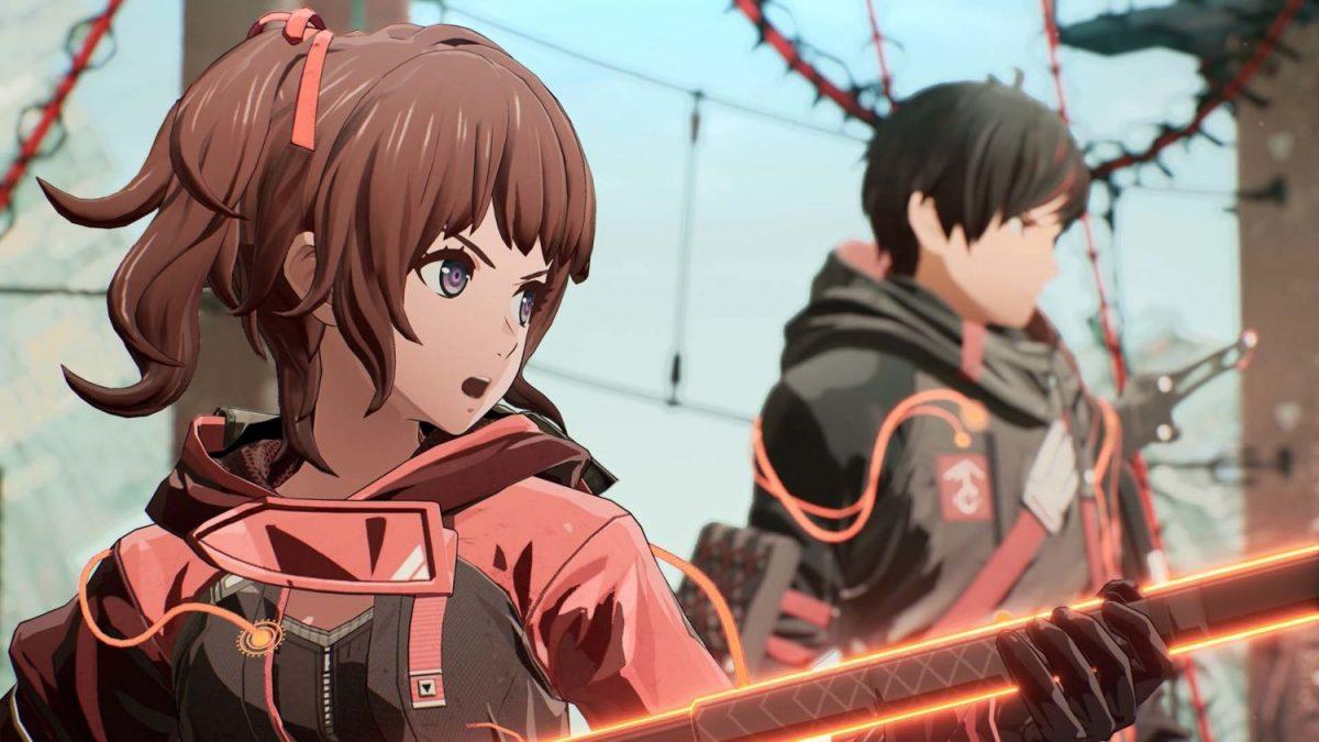 Yuito and Kasane in Scarlet Nexus