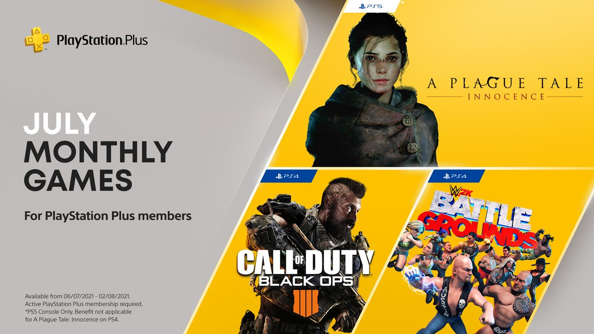 July's selection for PlayStation Plus subscribers