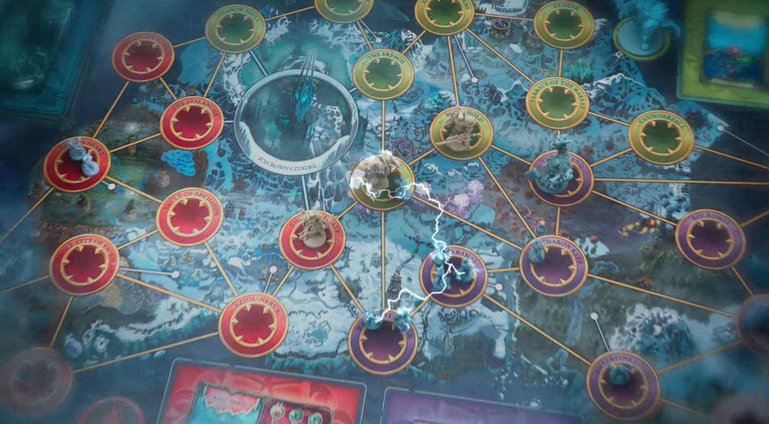 A potential look at the game board of the Wrath of the Lich King and Pandemic crossover.