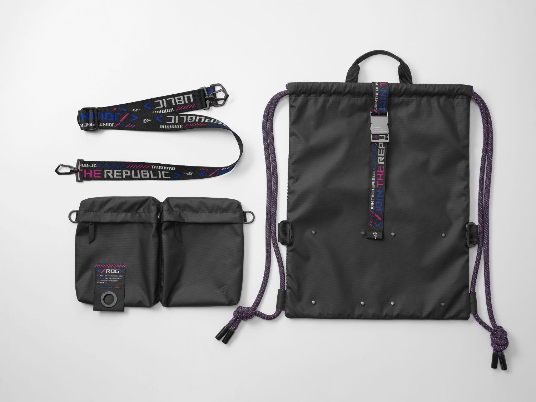 ASUS Republic Of Gamers Rolls Out ROG SLASH Fashion Line Celebrating Cyberpunk Life - Draw String Bag