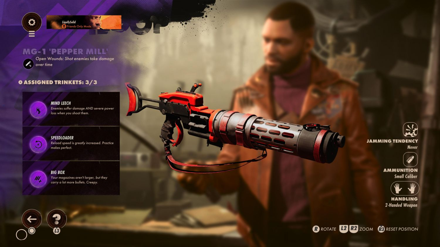 The Best Weapons And Slabs In Deathloop You Need To Know - The MG-1 Pepper Mill